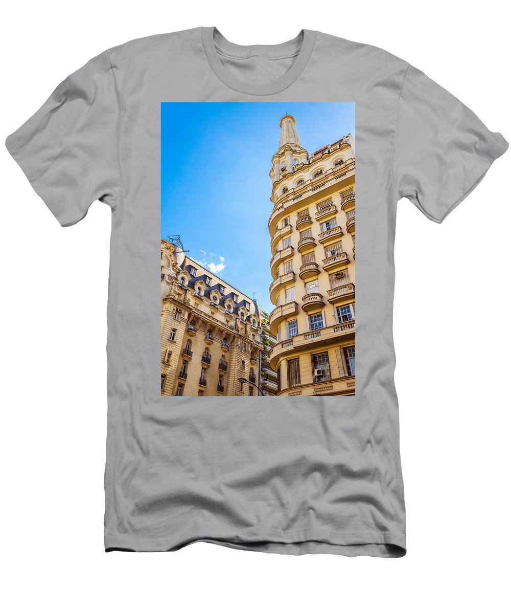French Men's T-Shirt (Athletic Fit) featuring the photograph Architecture In Buenos Aires by Jess Kraft