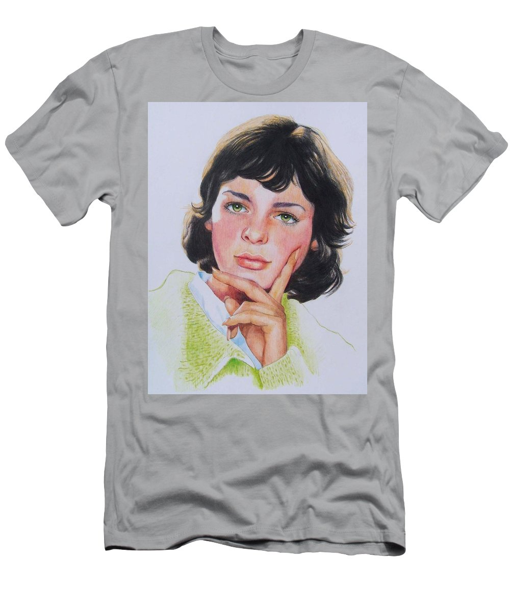 Portrait Men's T-Shirt (Athletic Fit) featuring the mixed media Ariane by Constance Drescher