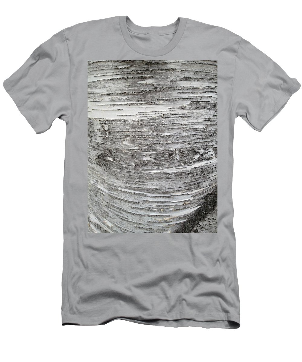 Birch Tree Bark Men's T-Shirt (Athletic Fit) featuring the photograph Around Birch by Joseph Yarbrough