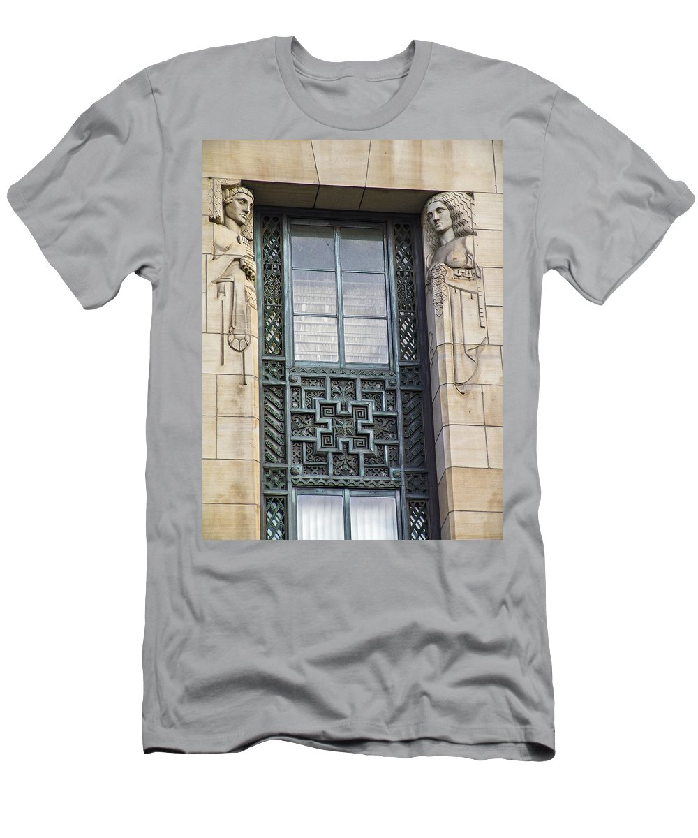 Embellishment Men's T-Shirt (Athletic Fit) featuring the photograph Art Deco Window by Eric Swan