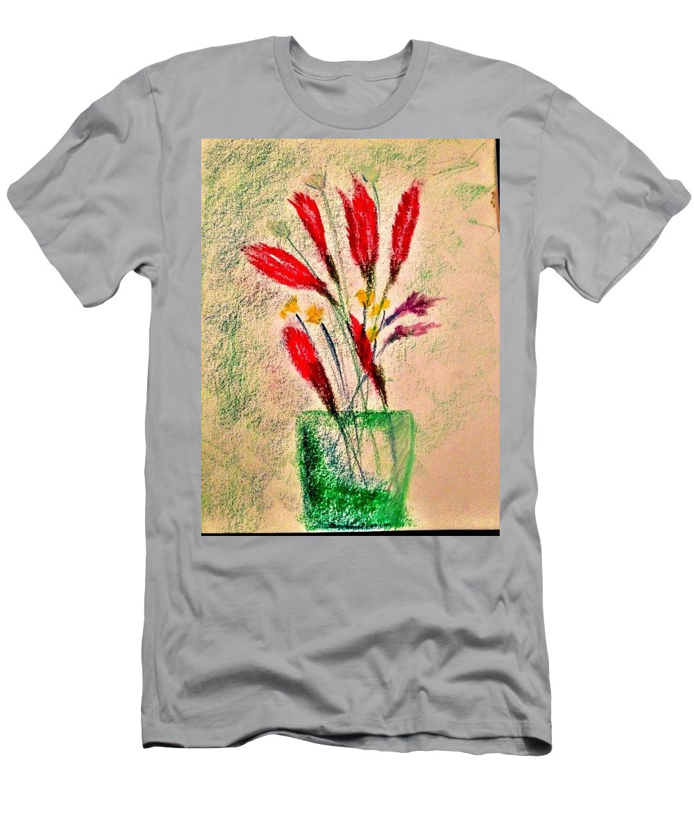 Flowers Men's T-Shirt (Athletic Fit) featuring the photograph Art Therapy 179 by Michele Monk