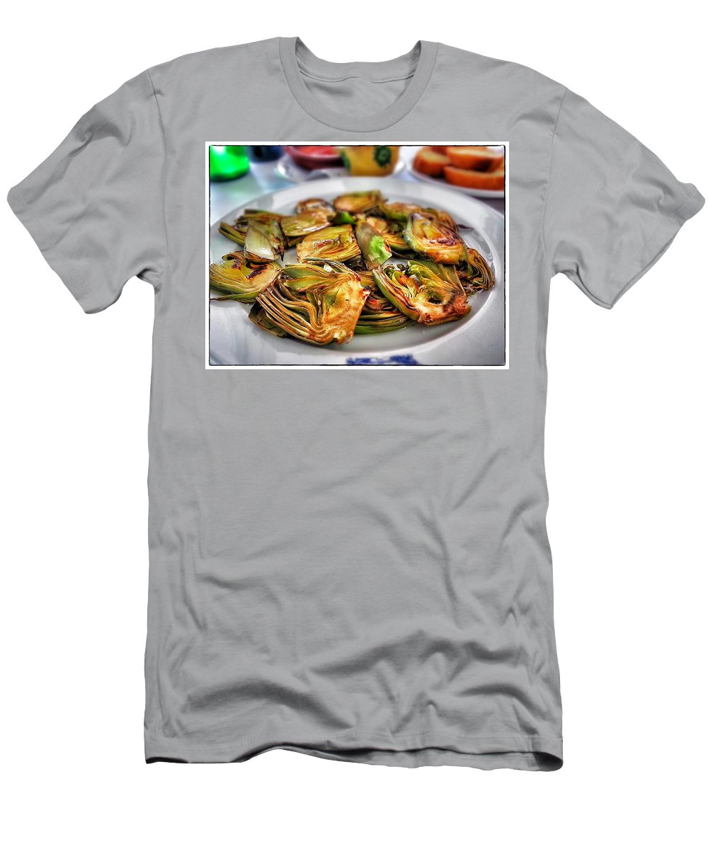 Artichokes Men's T-Shirt (Athletic Fit) featuring the photograph Artichokes by For Ninety One Days