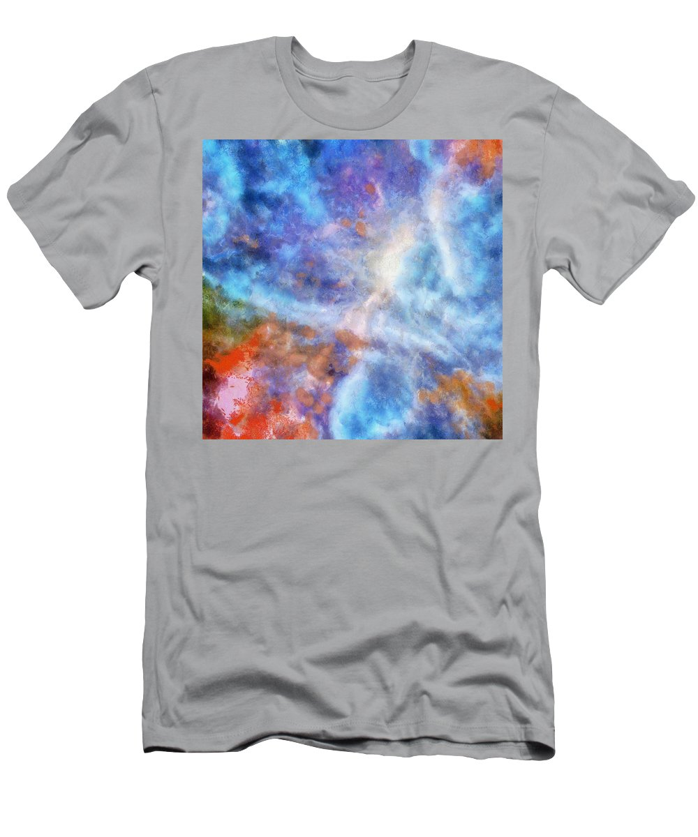 Abstract Men's T-Shirt (Athletic Fit) featuring the painting Ascending From A Dive by Taiche Acrylic Art