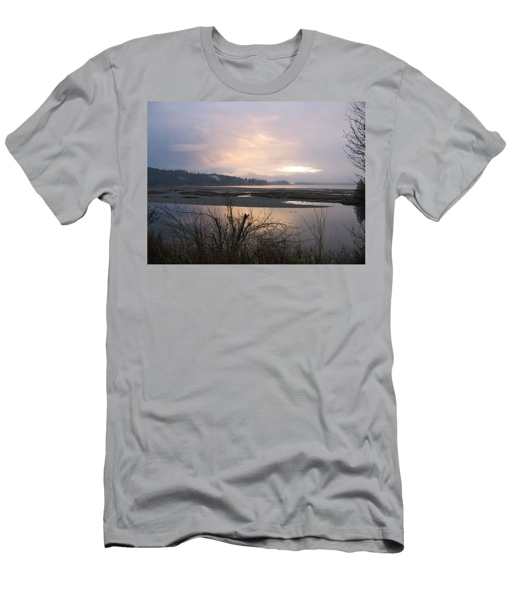 Landscape Men's T-Shirt (Athletic Fit) featuring the photograph At Dusk by Stephanie Bland