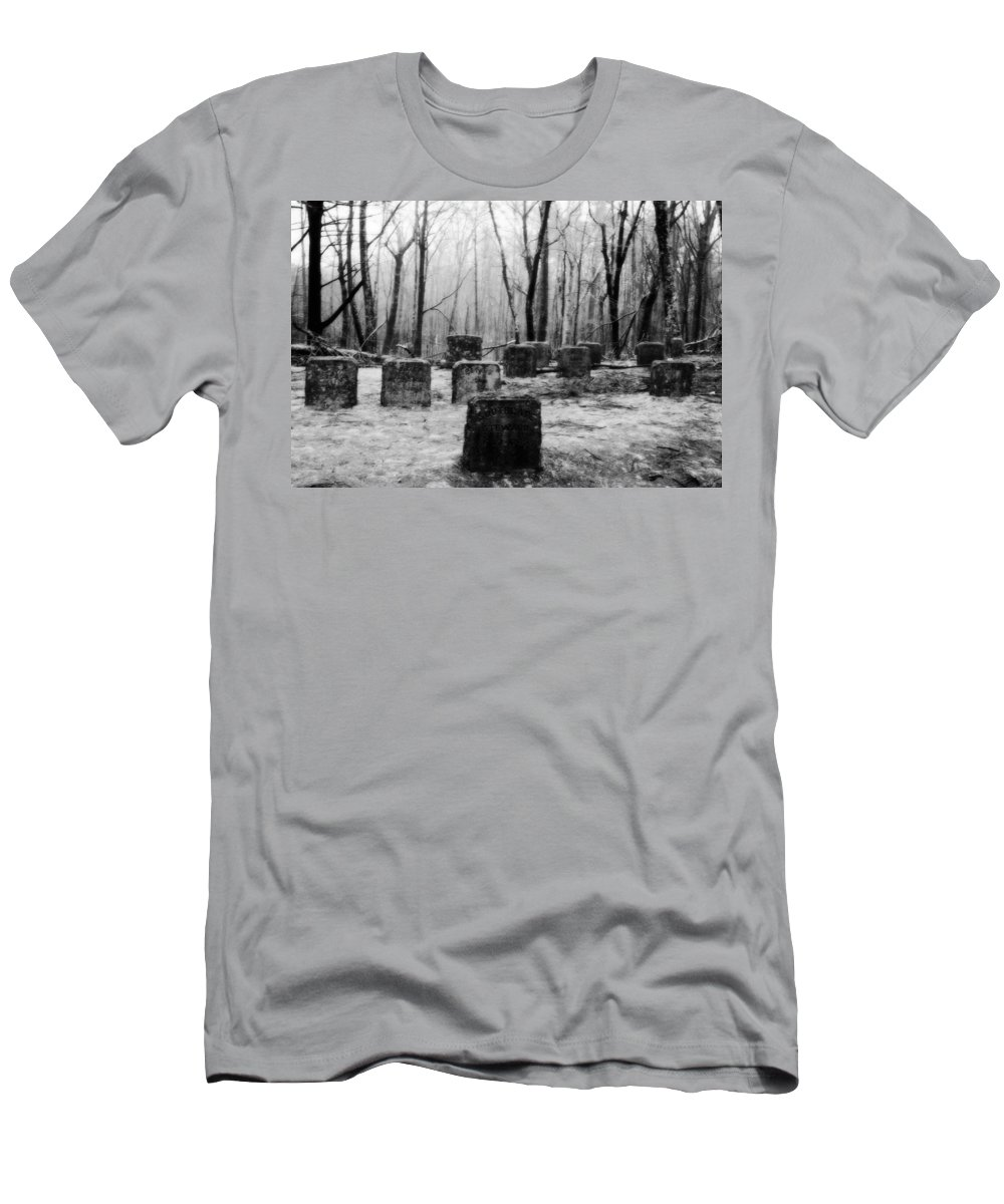Cemetery Men's T-Shirt (Athletic Fit) featuring the photograph At Rest by Conor McLaughlin