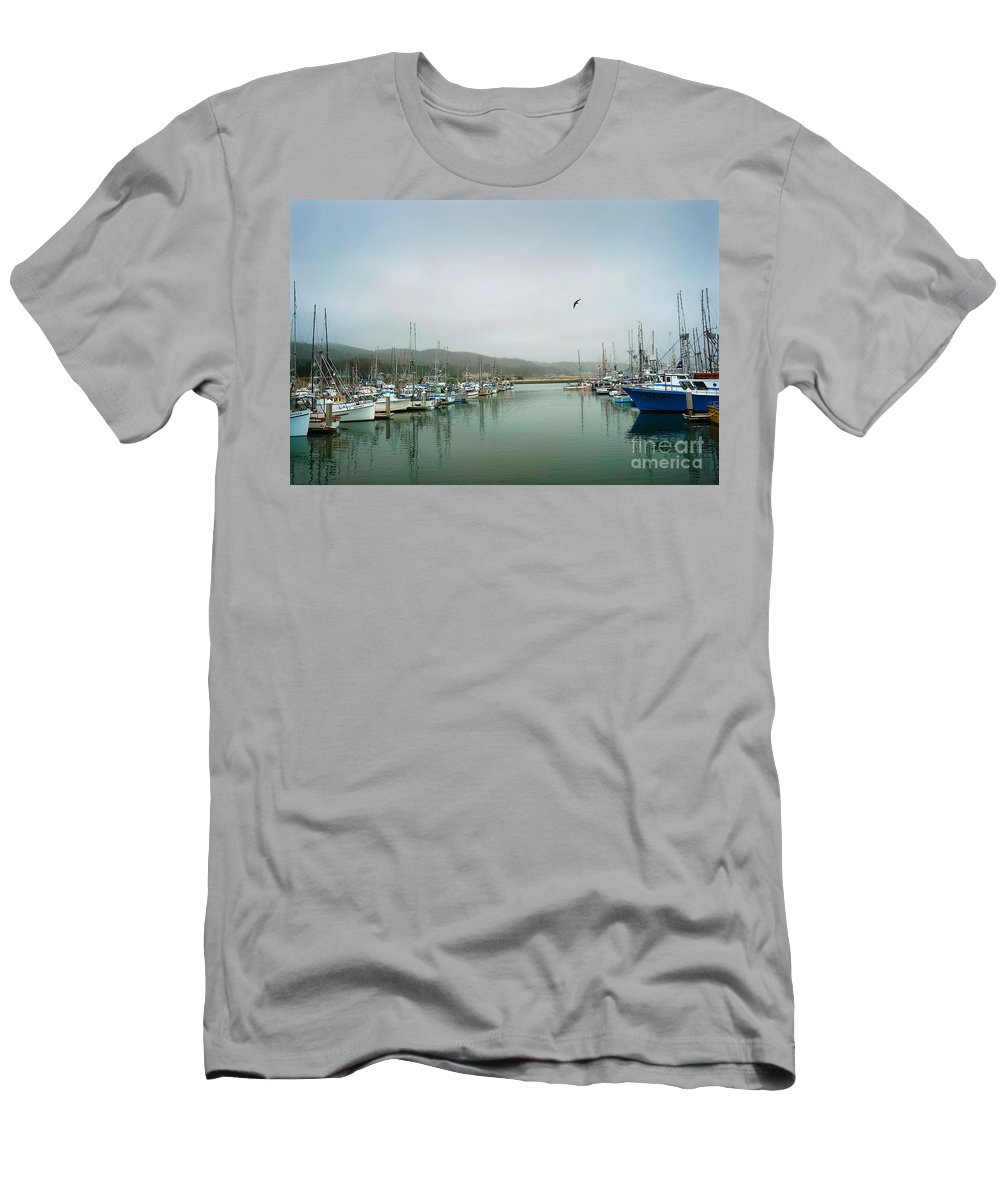 Boats Men's T-Shirt (Athletic Fit) featuring the photograph At Rest by Ellen Cotton