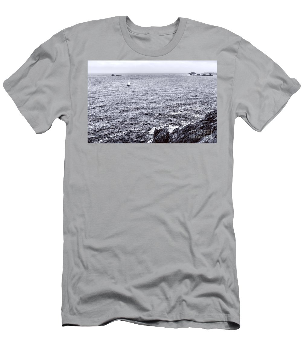 France Men's T-Shirt (Athletic Fit) featuring the photograph At Sea by Olivier Le Queinec
