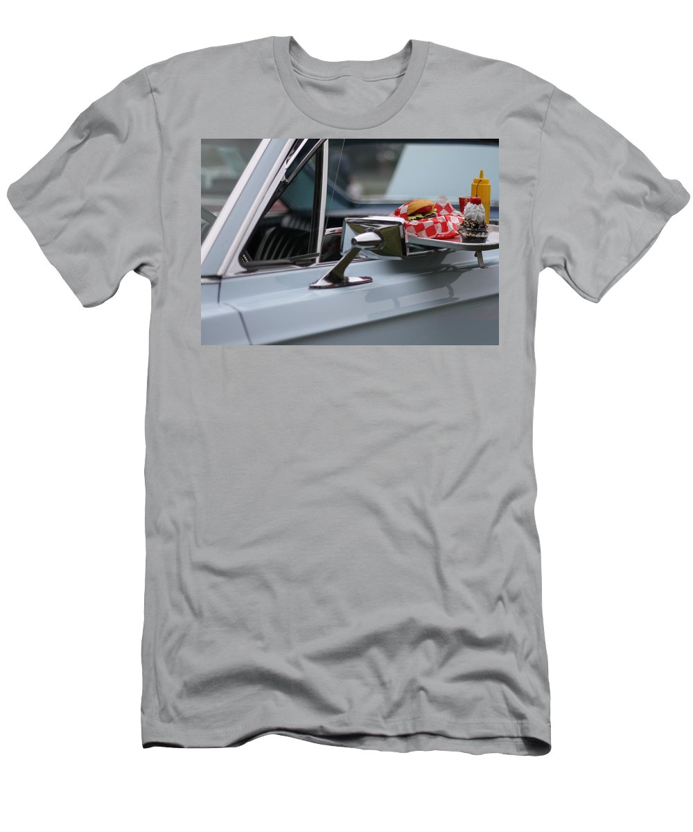 Carhop Men's T-Shirt (Athletic Fit) featuring the photograph At The Carhop by Dan Sproul