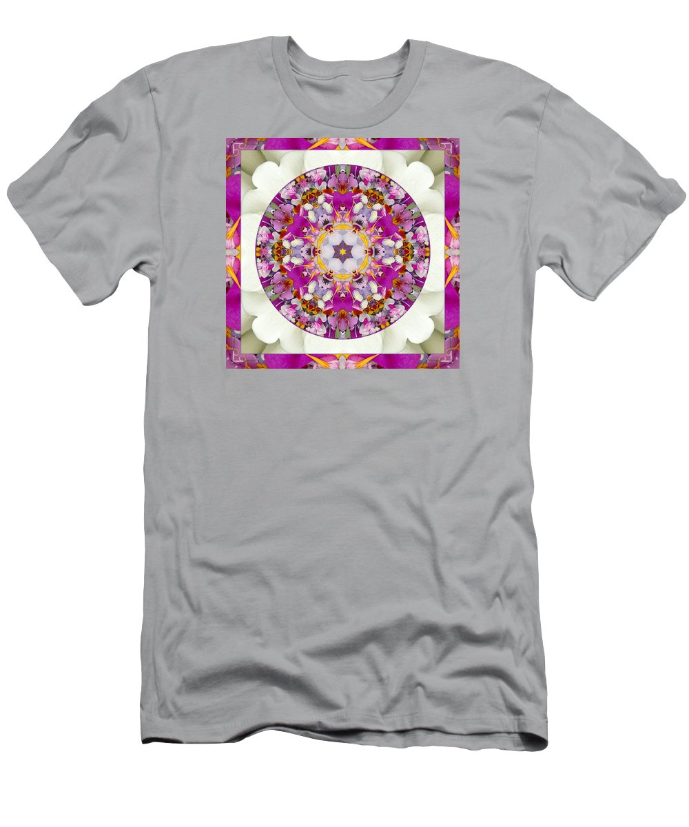 Meditation Healing Art Men's T-Shirt (Athletic Fit) featuring the photograph Aura Of Joy by Bell And Todd