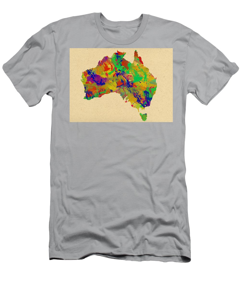 Australia Men's T-Shirt (Athletic Fit) featuring the photograph Australia Watercolor  by Chris Smith