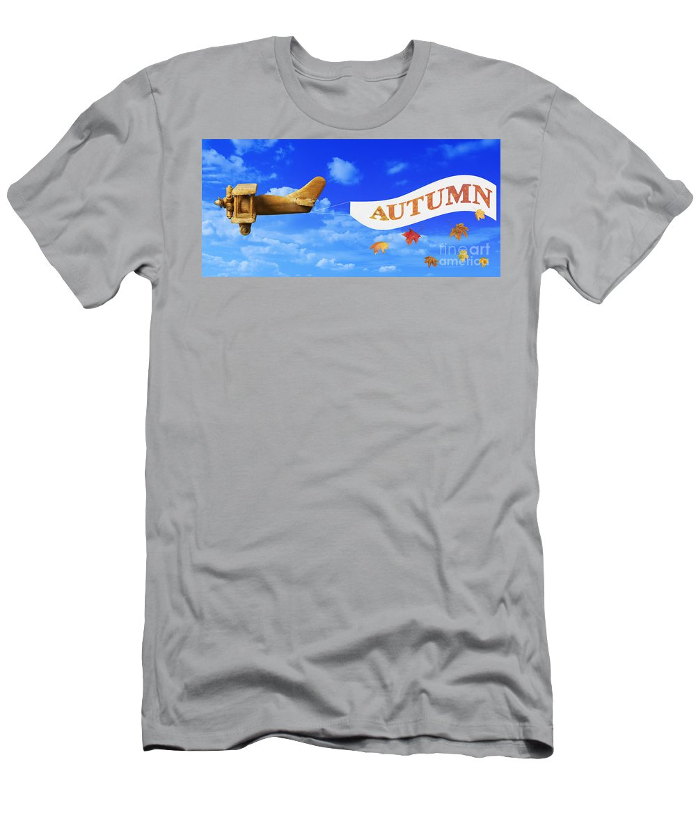 Vintage Men's T-Shirt (Athletic Fit) featuring the photograph Autumn Advertising Banner by Amanda Elwell
