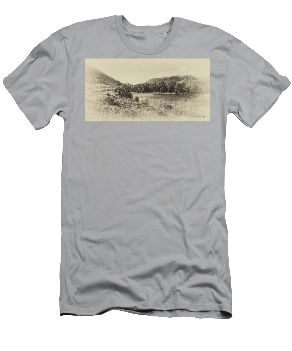 Autumn Men's T-Shirt (Athletic Fit) featuring the photograph Autumn In Montana In Heirloom Finish by Thomas Woolworth
