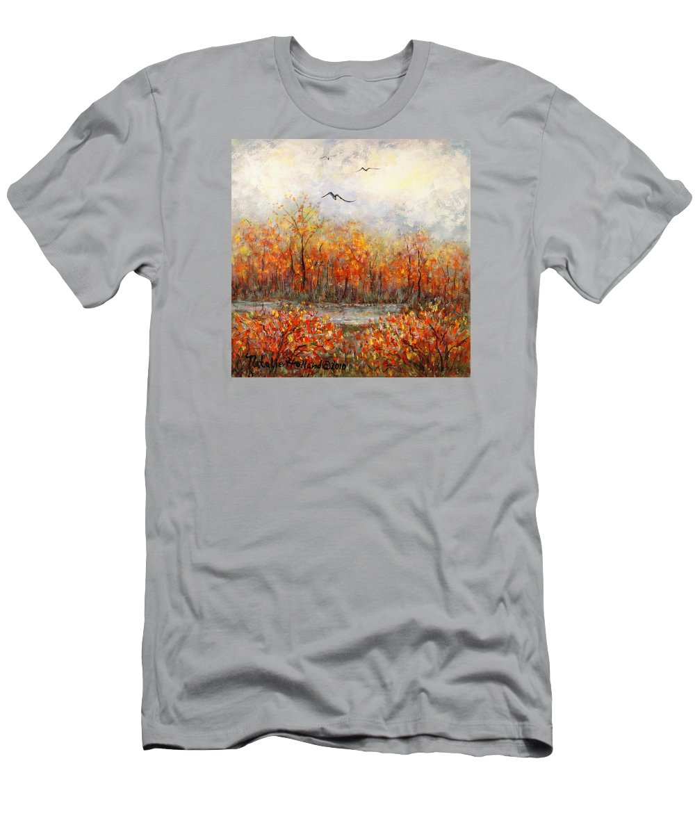Landscapes T-Shirt featuring the painting Autumn Song by Natalie Holland