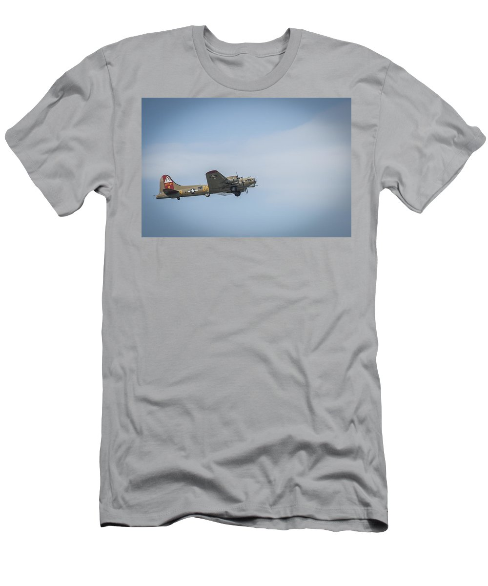 B-17 Flying Fortress Monmouth Nj Men's T-Shirt (Athletic Fit) featuring the photograph B-17 Flying Fortress Monmouth Nj by Terry DeLuco