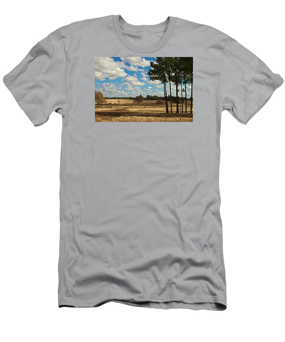Landscape Men's T-Shirt (Athletic Fit) featuring the photograph Bakers Ranch by Janal Koenig