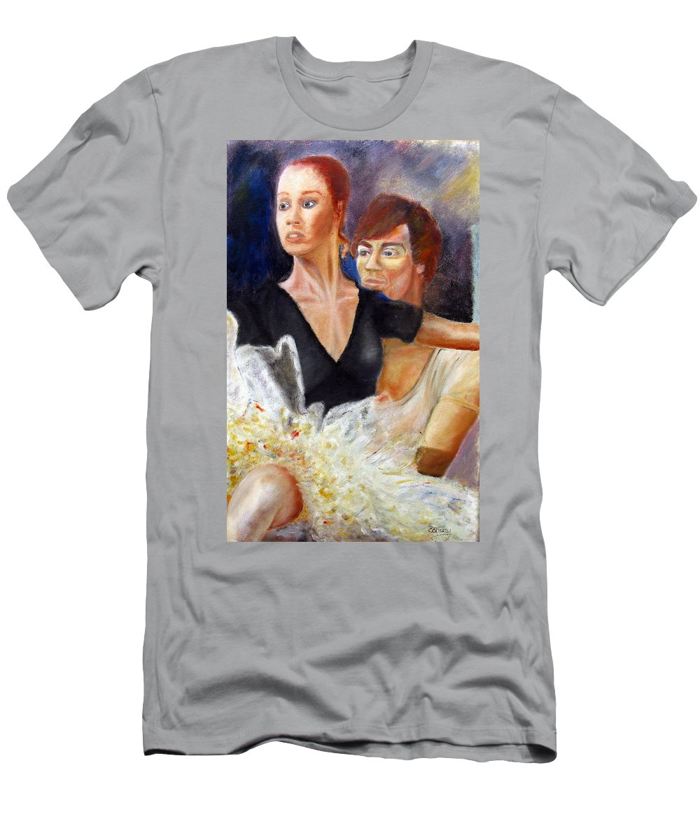 Ballet Men's T-Shirt (Athletic Fit) featuring the painting Ballet Dancers Rehearse For La Bayadere by Tom Conway