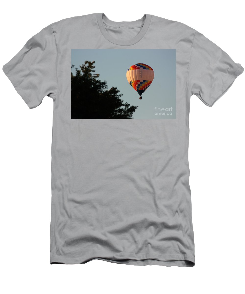 Hot Air Balloon Men's T-Shirt (Athletic Fit) featuring the photograph Balloon-7105 by Gary Gingrich Galleries