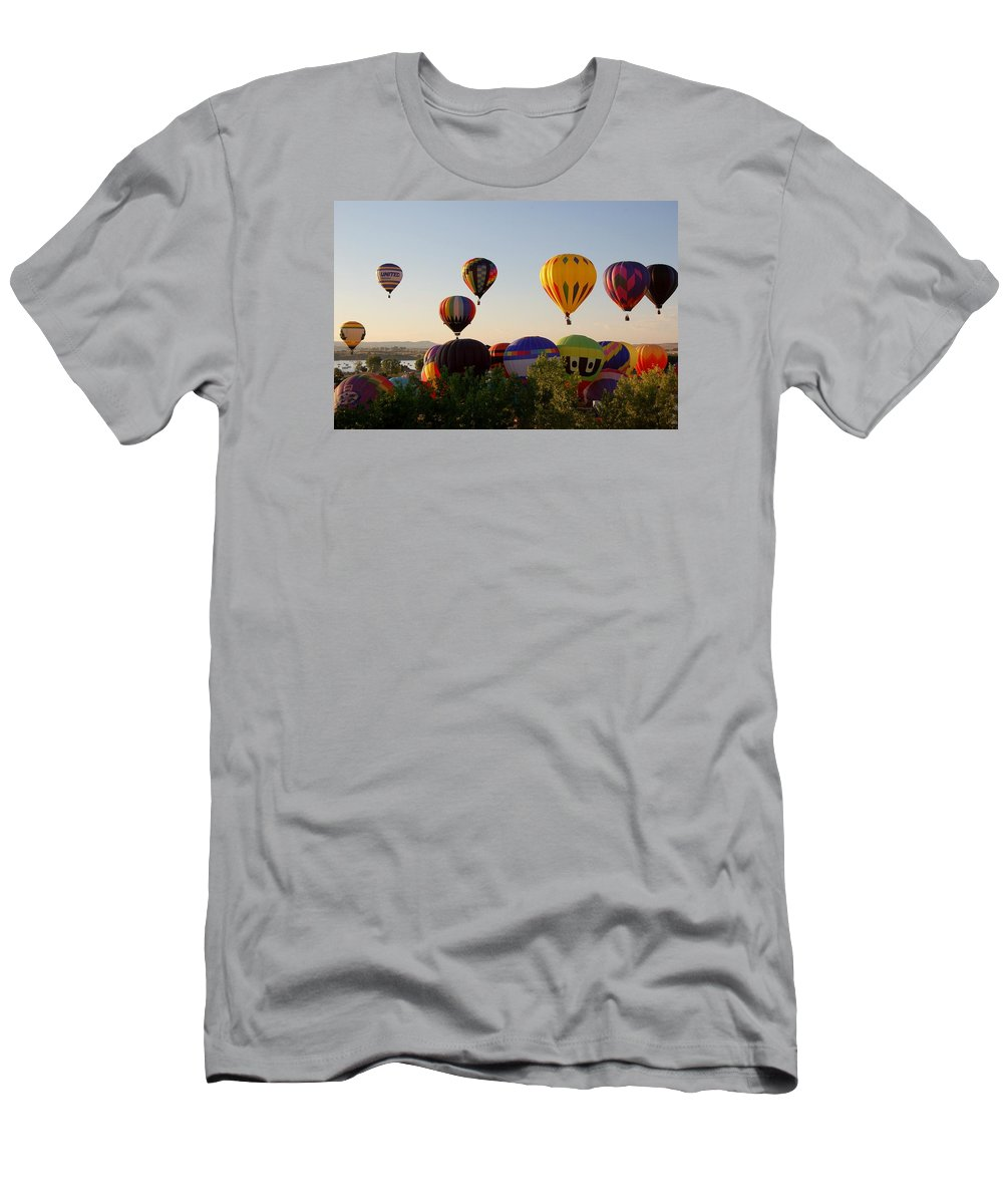 Hot Air Balloon Men's T-Shirt (Athletic Fit) featuring the photograph Balloon Festival by Christopher James