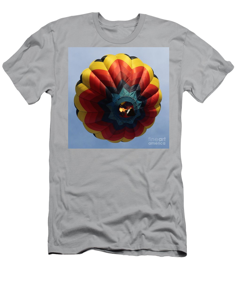 Balloon Men's T-Shirt (Athletic Fit) featuring the photograph Balloon Square 3 by Carol Groenen