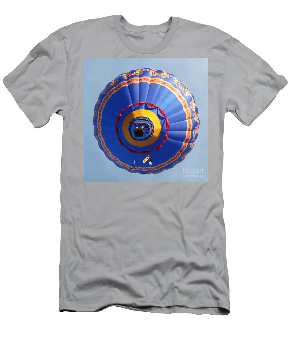 Balloon Men's T-Shirt (Athletic Fit) featuring the photograph Balloon Square 4 by Carol Groenen