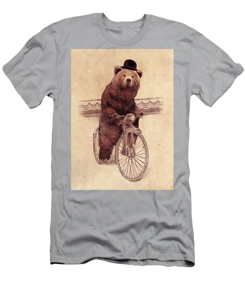 Bear T-Shirt featuring the drawing Barnabus by Eric Fan