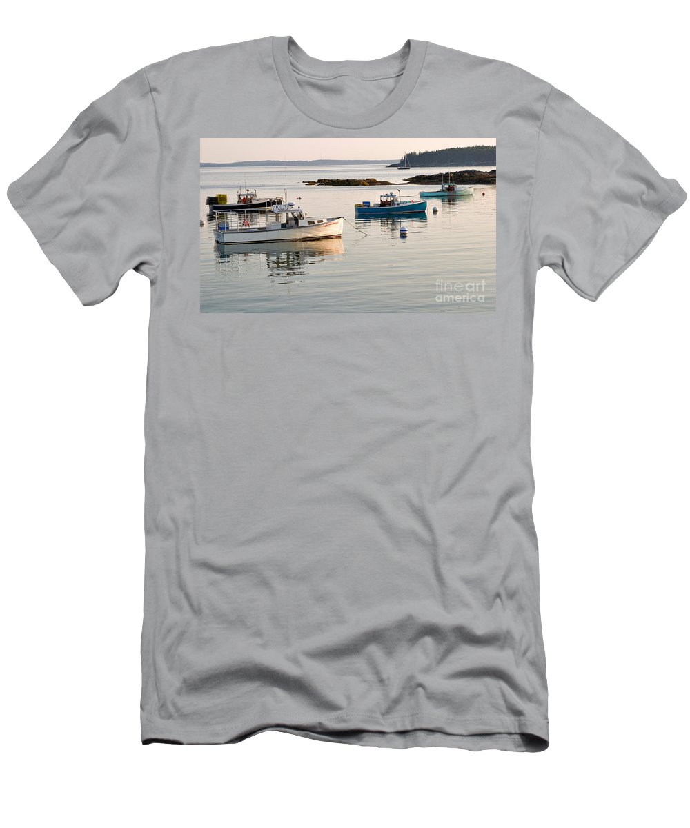 Travel Men's T-Shirt (Athletic Fit) featuring the photograph Bass Harbor by Louise Heusinkveld
