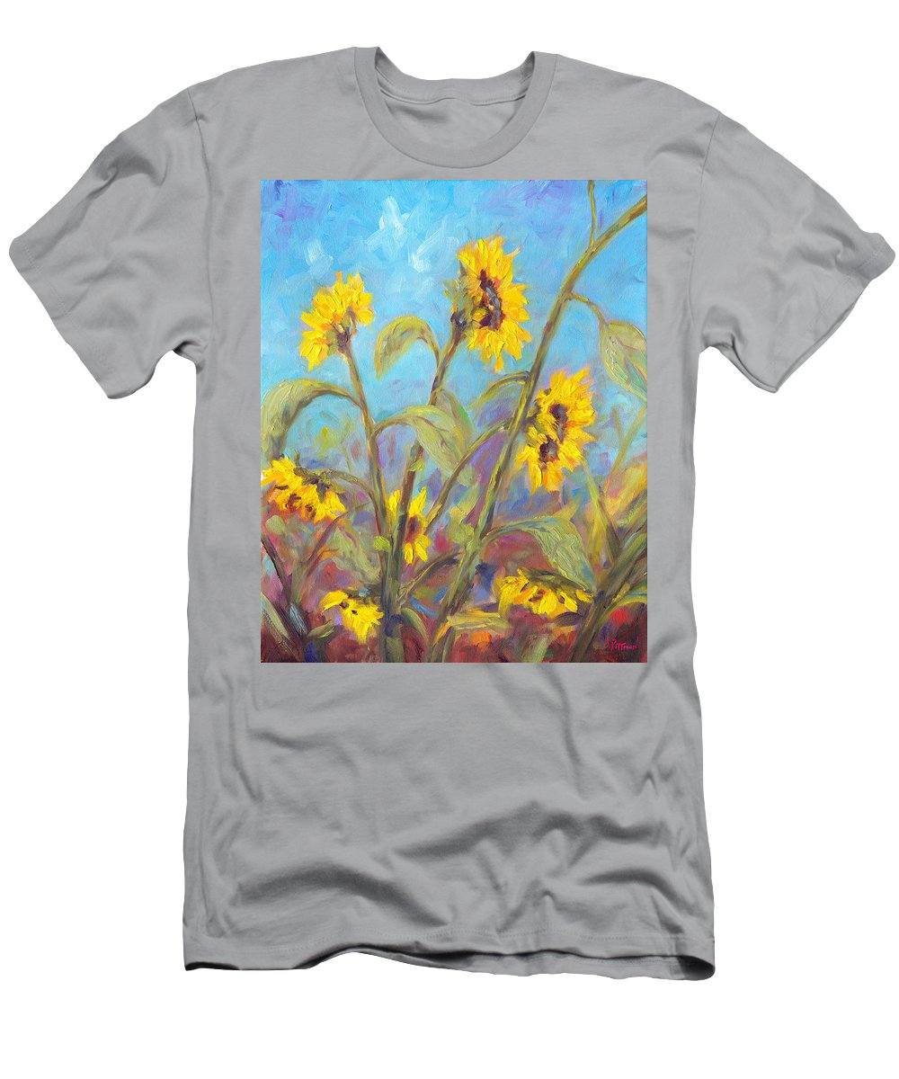 Sunflower T-Shirt featuring the painting Bathing Beauties by Jeff Pittman
