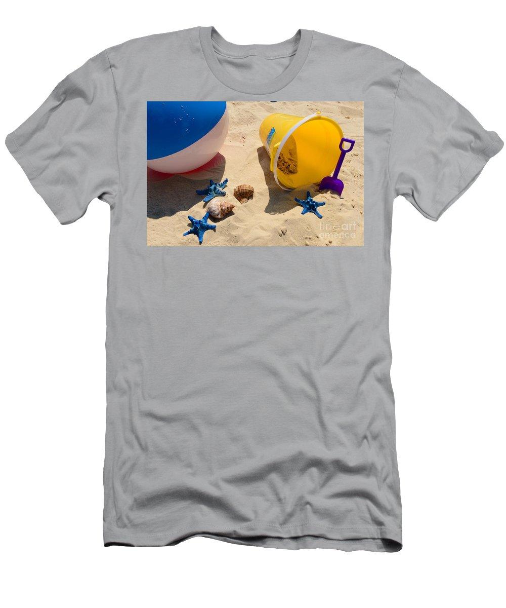Paul Ward Men's T-Shirt (Athletic Fit) featuring the photograph Beach Fun by Paul Ward