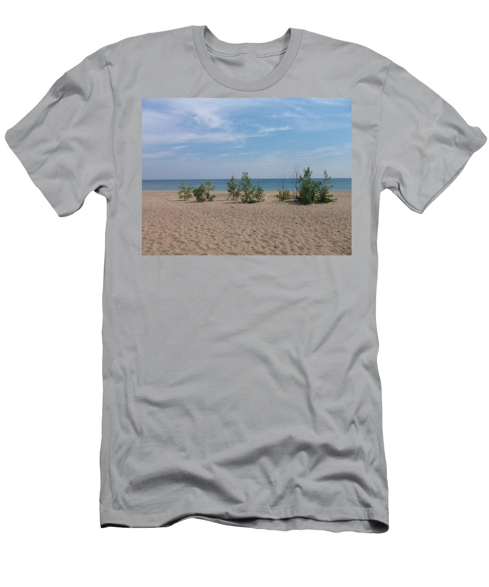 Port Men's T-Shirt (Athletic Fit) featuring the photograph Beach Trees by Two Bridges North