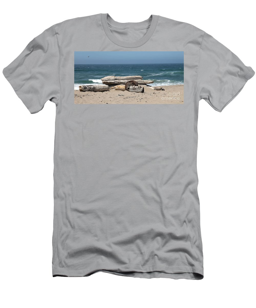 California Men's T-Shirt (Athletic Fit) featuring the photograph Beachy by Amanda Barcon