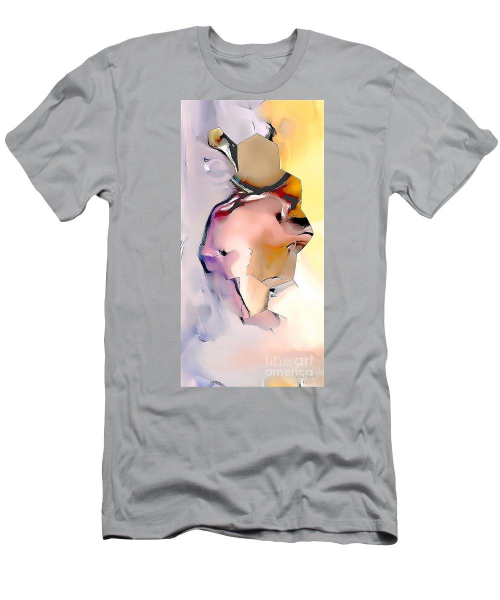 Bear Men's T-Shirt (Athletic Fit) featuring the painting Bear 597-11-13 Marucii by Marek Lutek