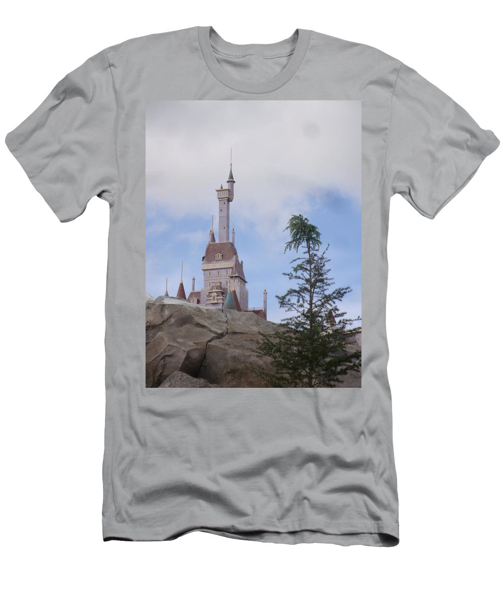 Beauty And The Beast Men's T-Shirt (Athletic Fit) featuring the photograph Beast's Castle by Kim Chernecky