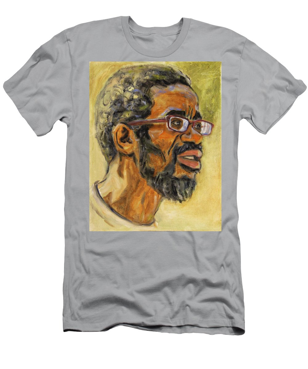 Beat Keeper Men's T-Shirt (Athletic Fit) featuring the painting Beat Keep II by Xueling Zou