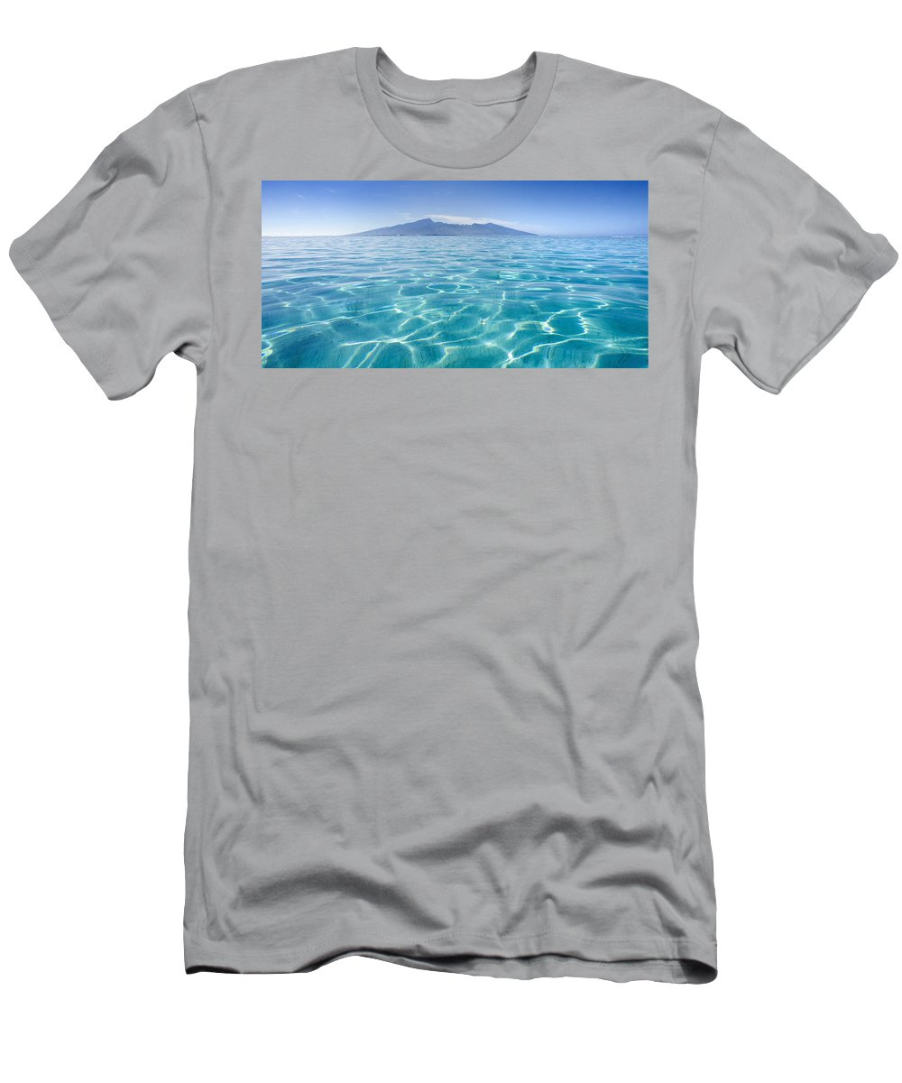 Amazing Men's T-Shirt (Athletic Fit) featuring the photograph Beauitful Seascape Of Moorea by M Swiet Productions