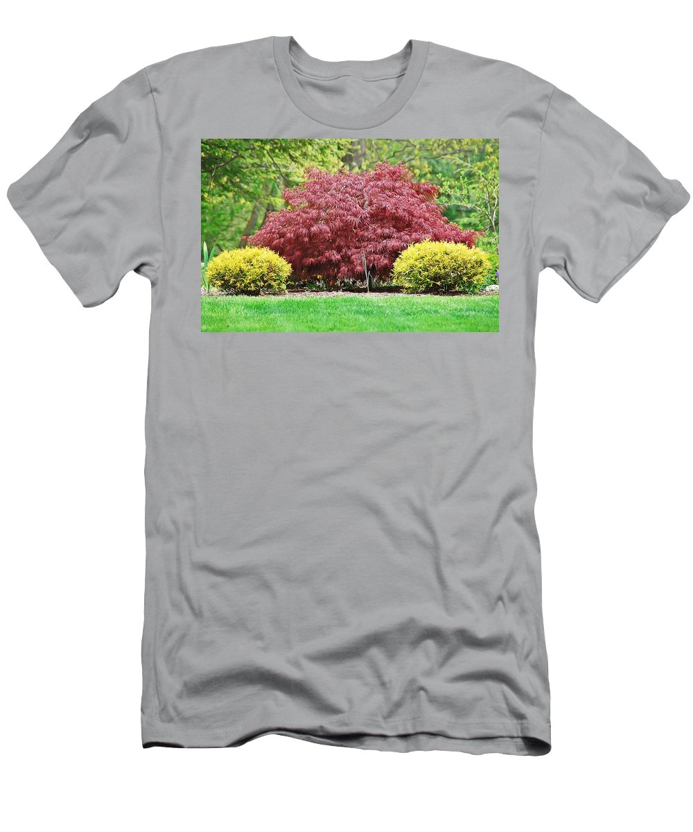 Japanese Maple Men's T-Shirt (Athletic Fit) featuring the photograph Beautiful Japanese Maple by Aimee L Maher ALM GALLERY