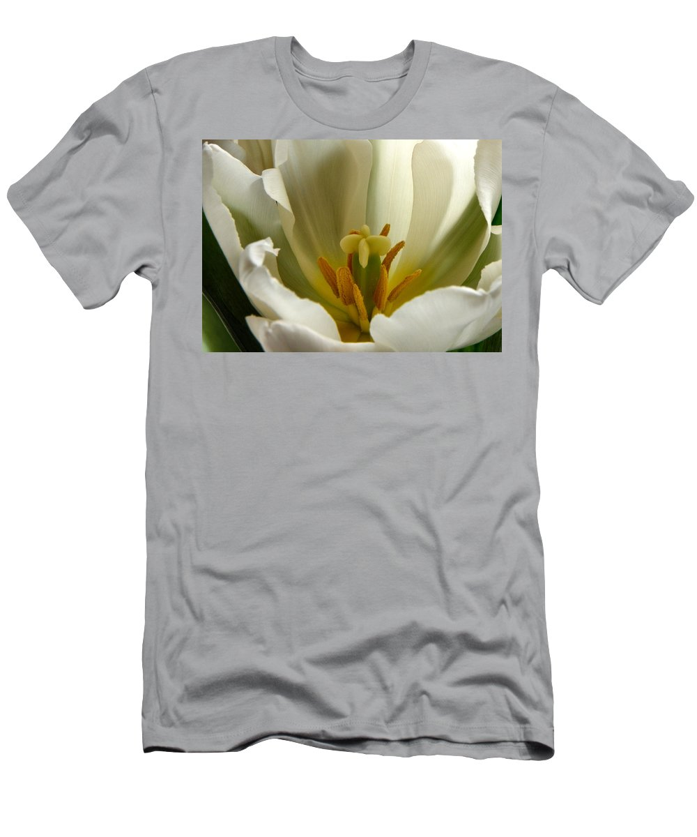 Tulip Men's T-Shirt (Athletic Fit) featuring the photograph Beauty Within by Deb Halloran