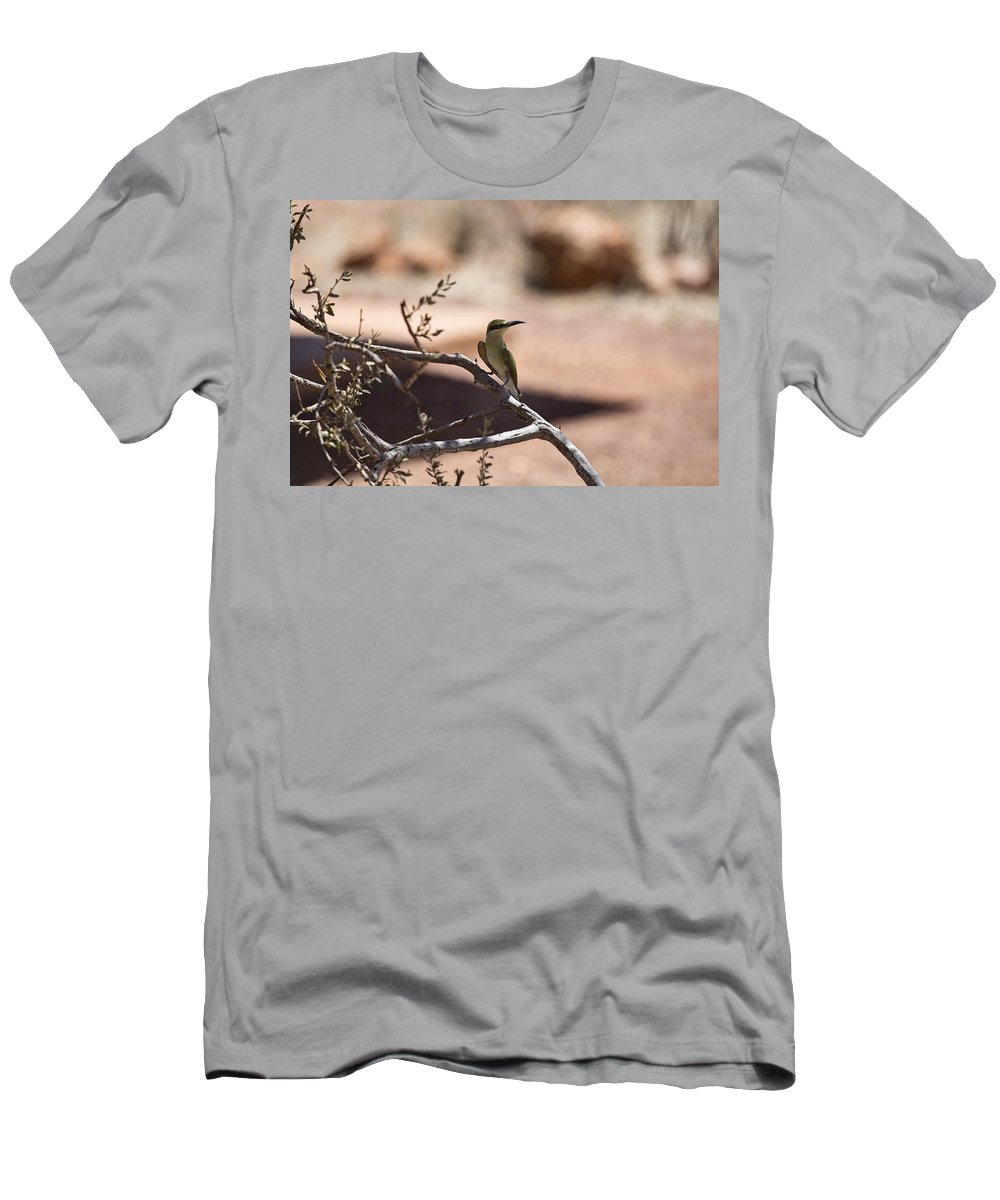 Bee-eater Men's T-Shirt (Athletic Fit) featuring the photograph Bee-eater V15 by Douglas Barnard