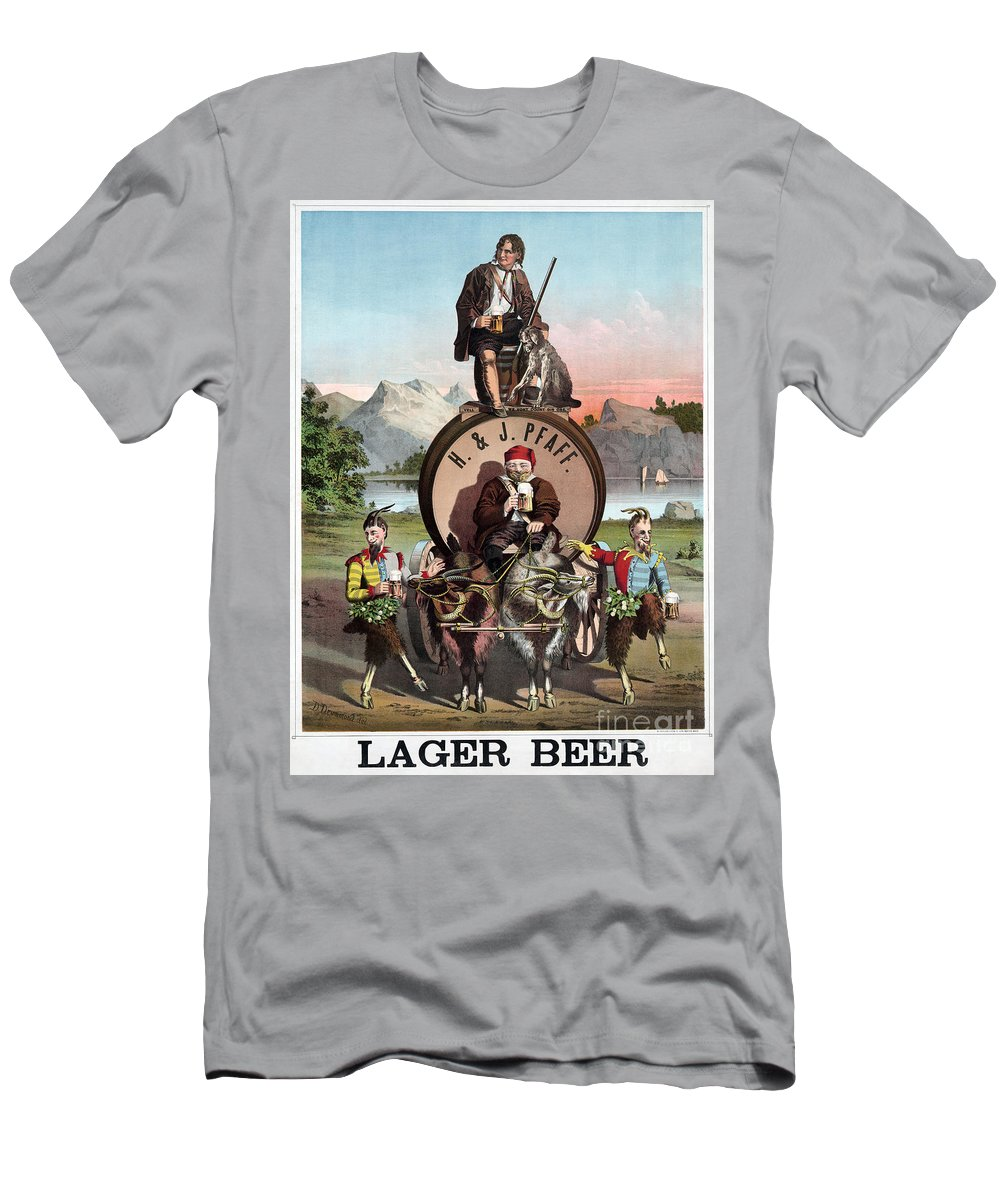 1870 Men's T-Shirt (Athletic Fit) featuring the photograph Beer Ad C1870 by Granger