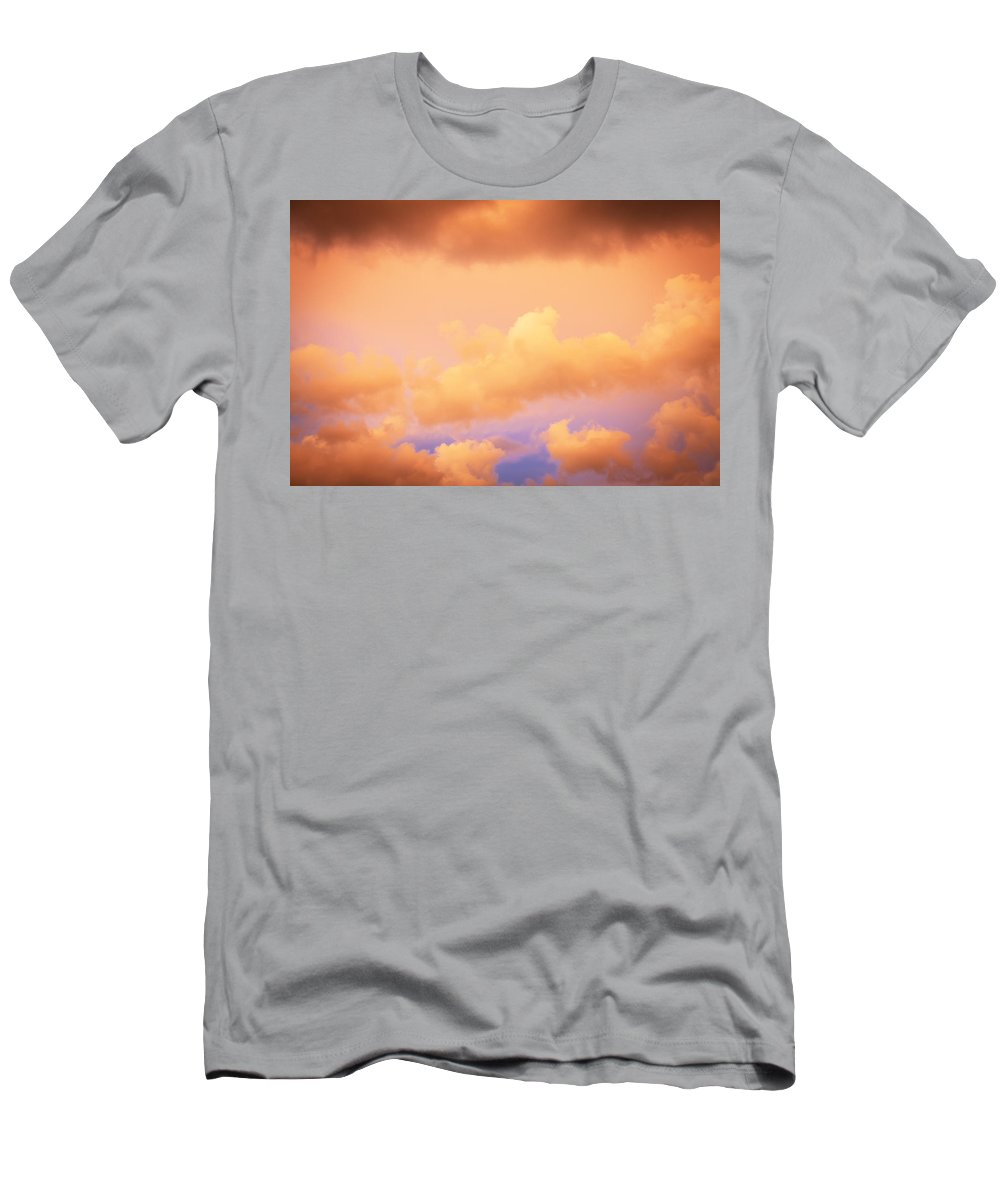 Clouds Men's T-Shirt (Athletic Fit) featuring the photograph Before The Storm Clouds Stratocumulus 11 by Rich Franco