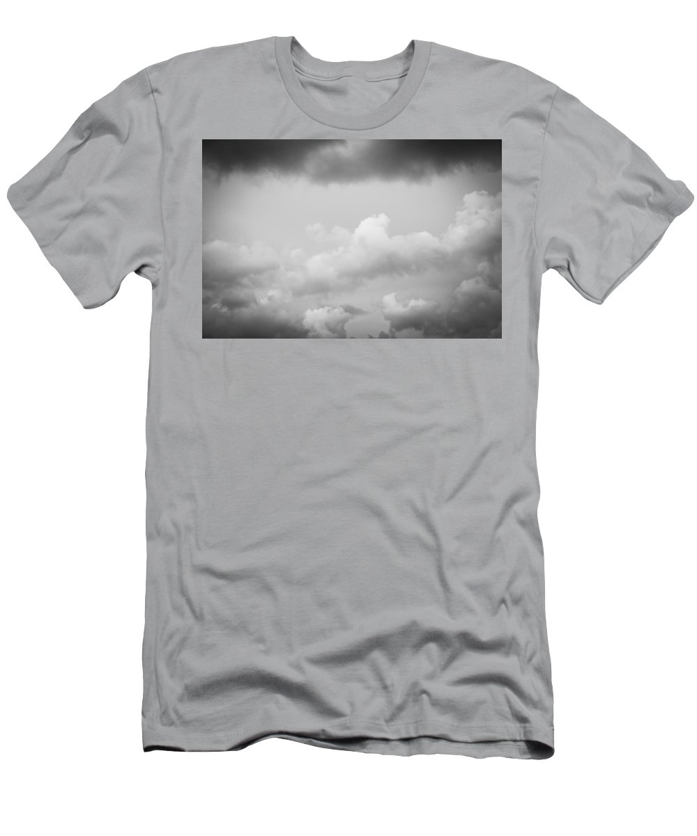 Clouds Men's T-Shirt (Athletic Fit) featuring the photograph Before The Storm Clouds Stratocumulus Bw 11 by Rich Franco