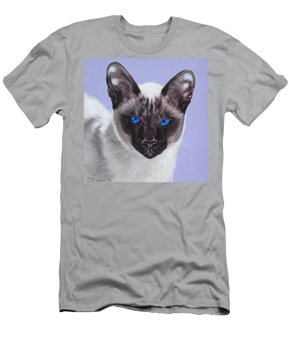 Cat Portrait Men's T-Shirt (Athletic Fit) featuring the painting Bella by Deborah Cullen