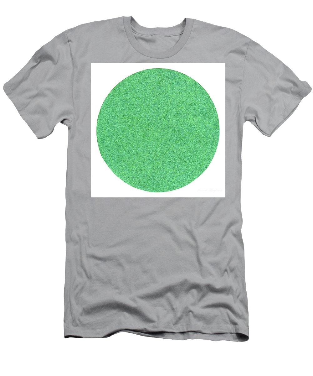 Green Men's T-Shirt (Athletic Fit) featuring the drawing Berde by Dave Migliore