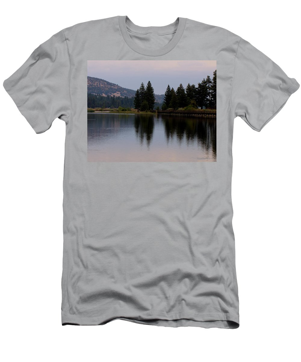 Big Bear Men's T-Shirt (Athletic Fit) featuring the photograph Big Bear Lake by Patricia Quandel