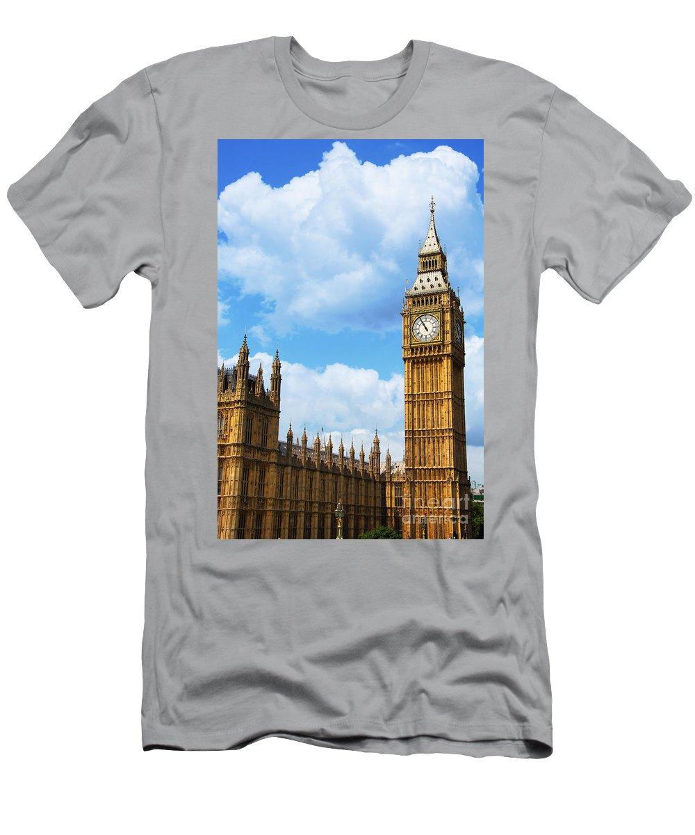 Big Ben Men's T-Shirt (Athletic Fit) featuring the photograph Big Ben by Mariola Bitner