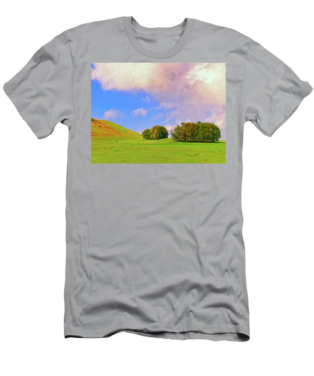 Big Island Ranch Men's T-Shirt (Athletic Fit) featuring the painting Big Island Ranch by Dominic Piperata
