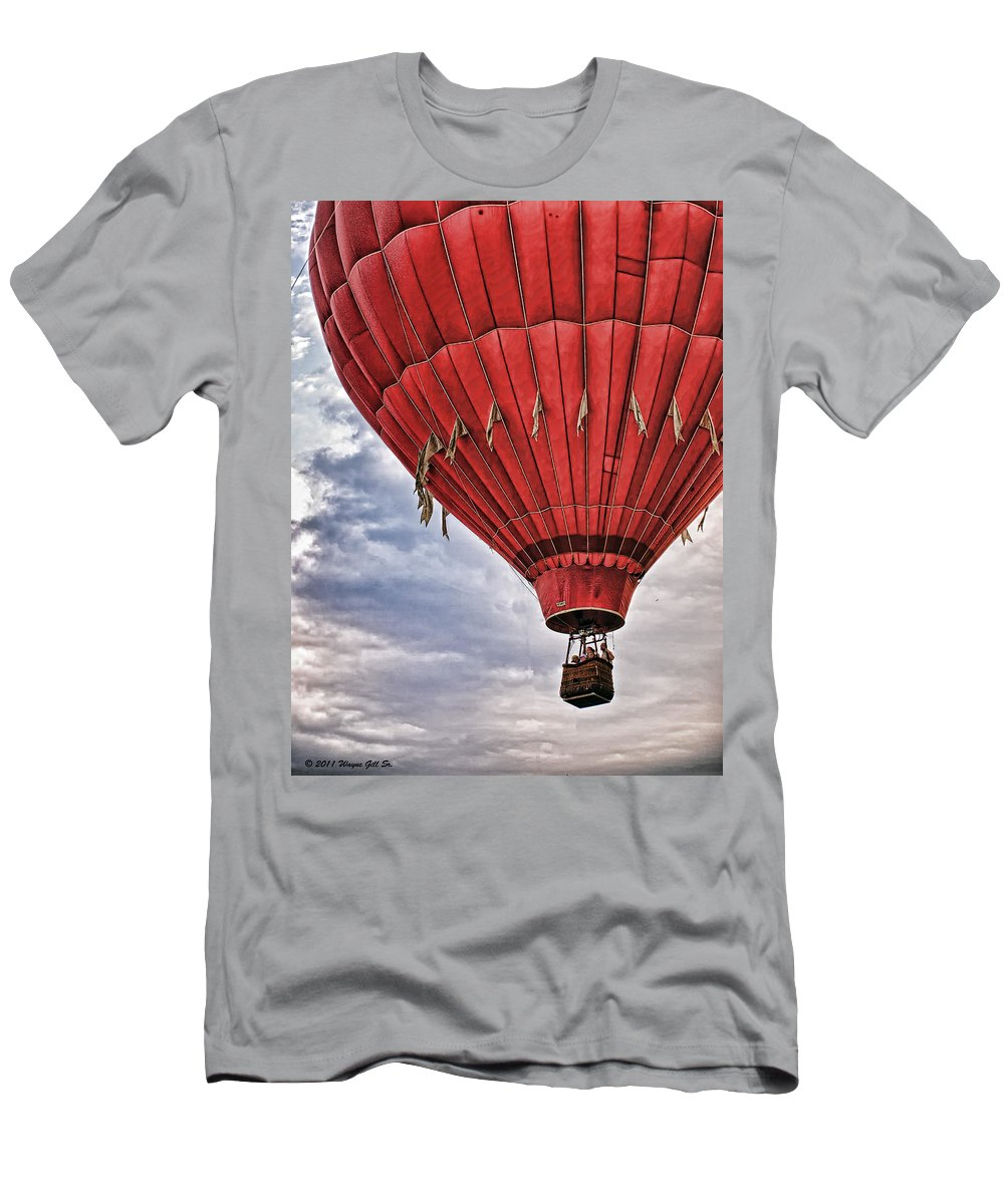 Balloon Men's T-Shirt (Athletic Fit) featuring the photograph Big Red by Wayne Gill