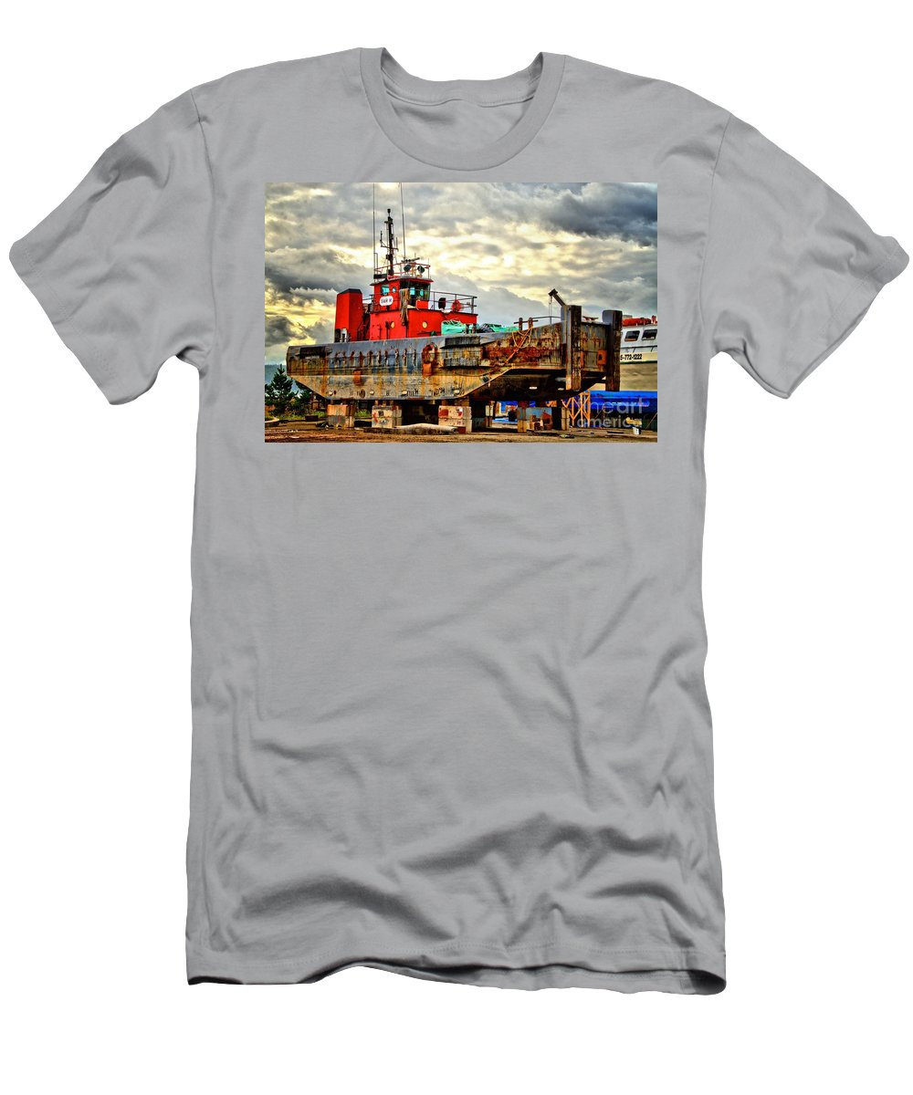 Abstract Men's T-Shirt (Athletic Fit) featuring the photograph Big Ship Rising by Lauren Leigh Hunter Fine Art Photography
