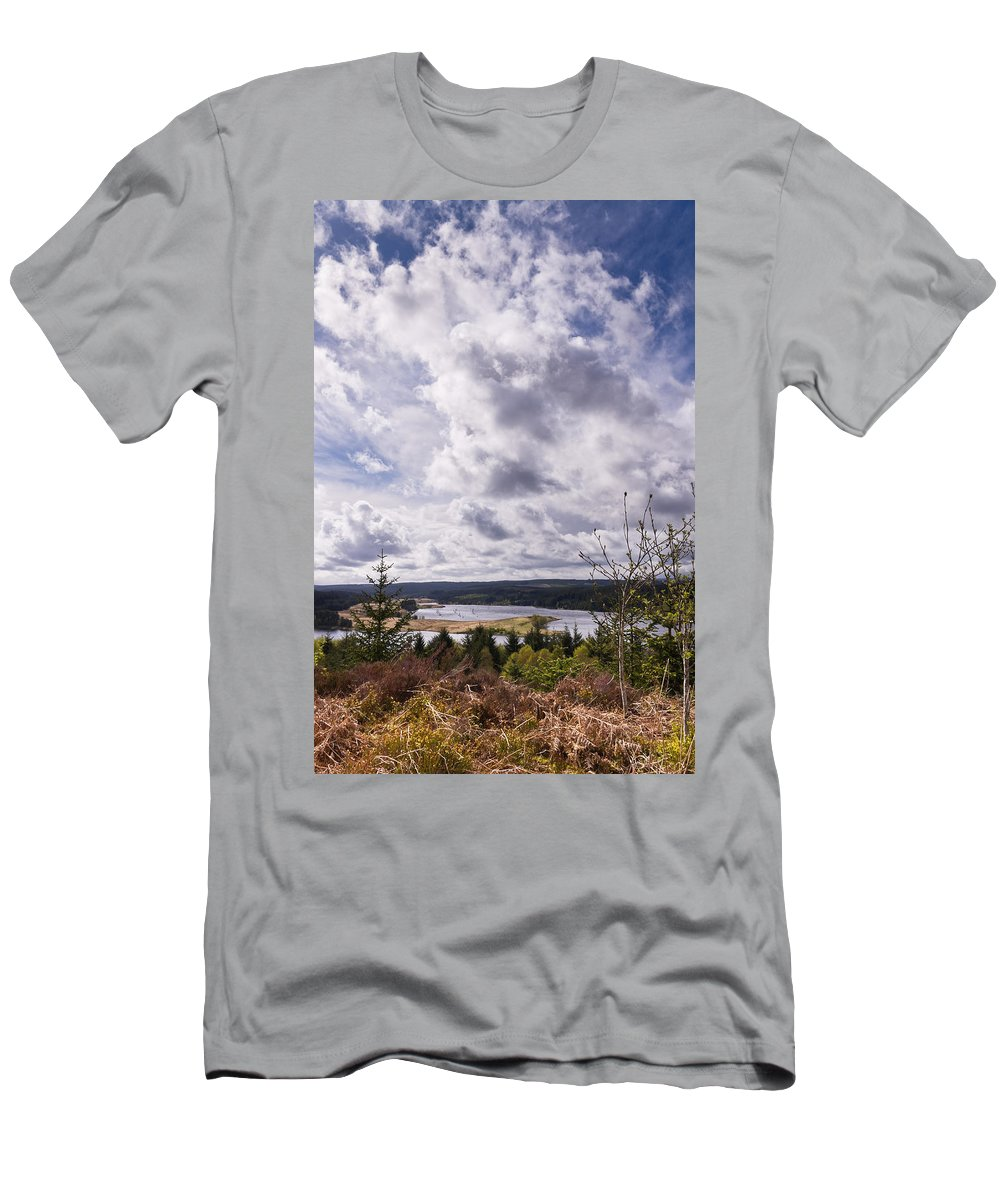 Northumberland Men's T-Shirt (Athletic Fit) featuring the photograph Big Sky At Kielder by David Head