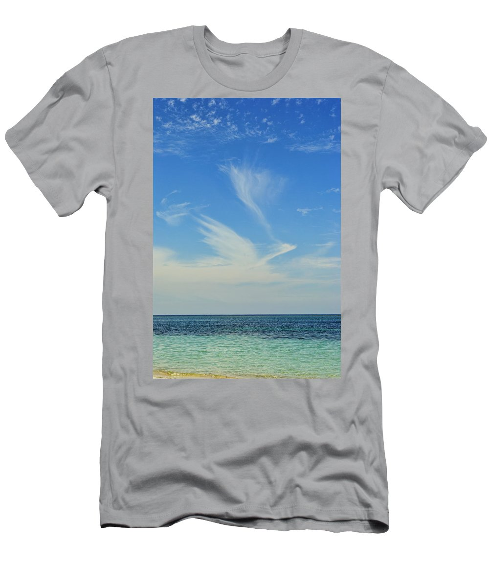 Bird Men's T-Shirt (Athletic Fit) featuring the photograph Bird Cloud by David Hart