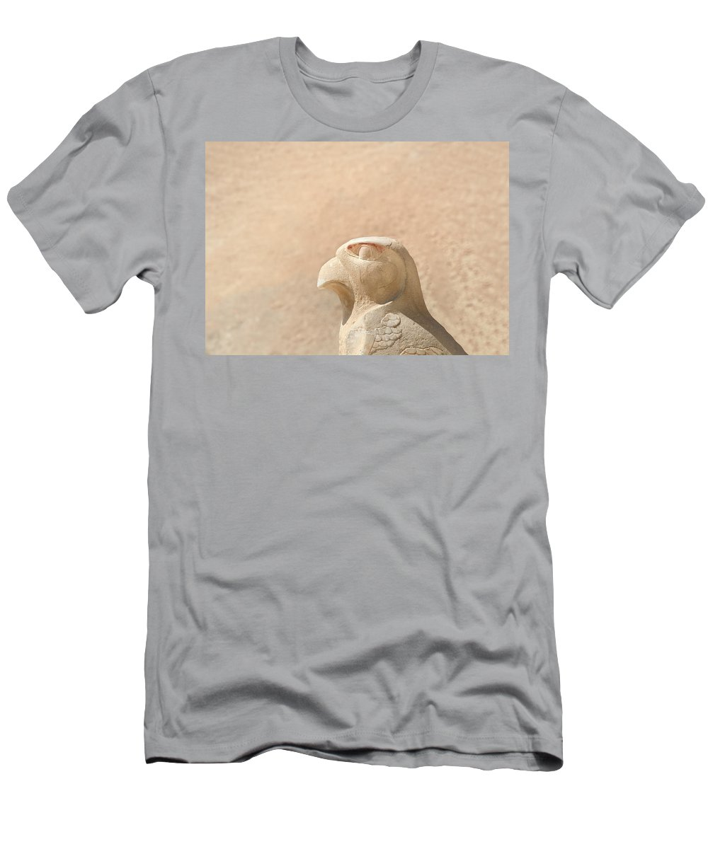 Egypt Men's T-Shirt (Athletic Fit) featuring the photograph Bird Of Prey.. by A Rey